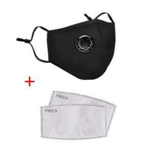 REUSABLE/WASHABLE RESPIRATOR FACE COVERS WITH VALVE